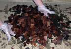 Dump the shingles in a shallow heap on a thick pile of newspaper or corregated cardboard