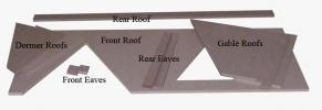 """The Roofs are 1/4"""" thick: particularly keep track of the Front Eaves"""