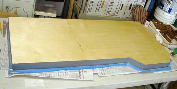 John glued a plywood bottom to the foundation for more rigidity and...